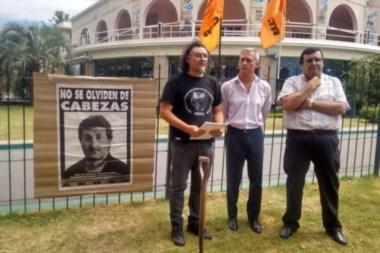 Acto en La Plata a 19 años del asesinato de Cabezas.