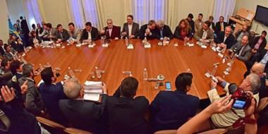 Durante el encuentro el gobernador le pidió a su equipo una mayor austeridad y redoblar los esfuerzos.