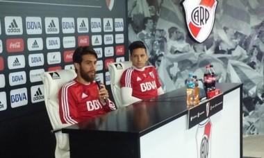 Ponzio y Driussi hablaron en conferencia de prensa tras el entrenamiento millonario en Ezeiza.