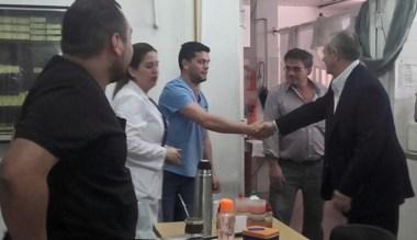 Recorrida. El ministro Hernández visitó varios sectores sanitarios.