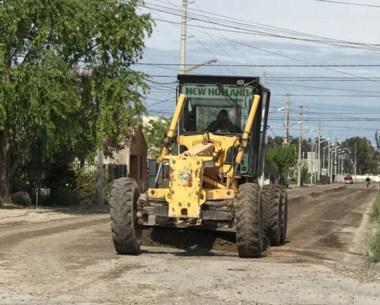 Maderna recorrió los sectores en donde se trabaja en calles.