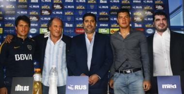 Se presentó Expo Boca con la presencia de Guillermo, Mouzo, Angelici, Battaglia y Gastón Mastrolia, representante de la muestra.