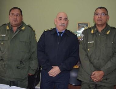 Firmes. El jefe de la Policía durante la capacitación realizada en Esquel.