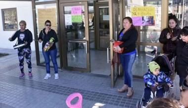 Un grupo de vecinos se sumaron al  pedido de la madre de Xiomara.