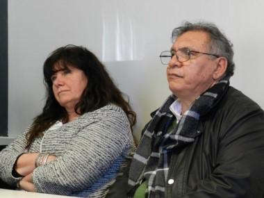 Dufour y Rojas durante el juicio (foto archivo)
