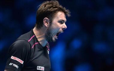 """""""Stan"""" Wawrinka se prende en la pelea por un lugar en semifinales."""