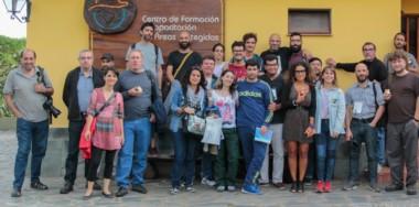 Sergio Esparza (primero de la izquierda) de Diario Jornada estuvo  presente en el encuentro de reporteros gráficos en Córdoba.