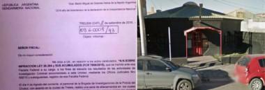 Facsímil del informe de Gendarmería al que accedió Jornada y el frente del cabaret vinculado a un importante político.
