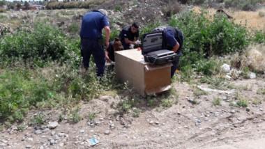 Policía científica realizó pericias sobre la caja fuerte
