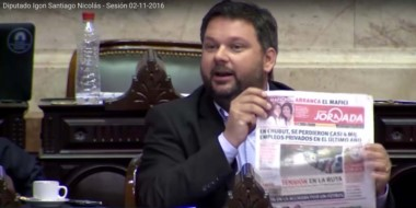 Con el diario Jornada. El representante por Chubut explicó su negativa a acompañar el Presupuesto 2017.