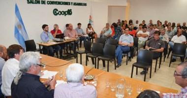 Escenario. Poco concurrida fue la asamblea de delegados de las ciudades de Esquel y Trevelin.