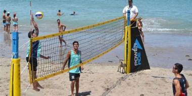 El voley masculino también fue protagonista en la primera edición de los Juegos de Playa en Las Grutas.