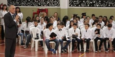 El ministro de Educación dio su mensaje a la comunidad educativa .
