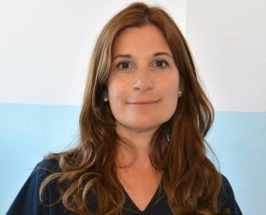 Sofía Testino, integrante del equipo de Pediatría del Hospital de Trelew.