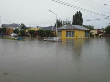 Muchas calles se volvieron complicadas al tránsito (foto Tiempo Sur)