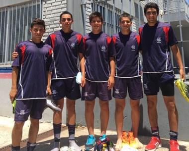 Roa (centro), Barrenechea y Cárdenas (der.), los fichados. Bobadilla y Ríos (izq.) tendrán otra chance.