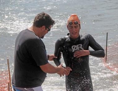 Lucas Prata ganó ayer la 3ra. fecha del Aguas Abiertas en el Golfo Nuevo.