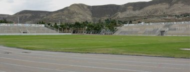 Así luce hoy el Estadio Municipal de Comodoro Rivadavia. Se espera iniciar un plan de obras para que esté en condiciones de recibir un Test match.