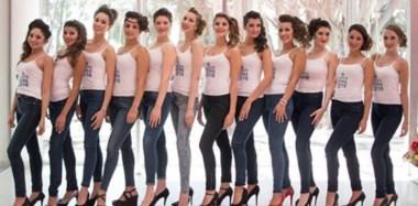 Las jóvenes y  bellas candidatas se preparan para participar, el  viernes, en la elección de la nueva Reina de Comodoro Rivadavia.