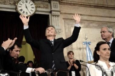 Macri, durante la Asamblea Legislativa del 1º de marzo; tiempos más felices para el oficialismo...