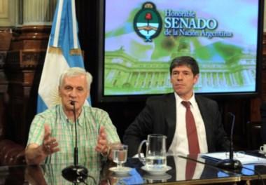 El líder de la ex CGT Balcarce y el ex jefe de Gabinete en Balcarce 50, actual senador Abal Medina.