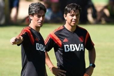 Gallardo paró el equipo con Mora, Alonso y Alario para el choque ante Gimnasia el sábado.