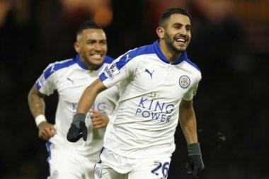 Mahrez puso a Leicester más lejos de sus escoltas: lleva 5 puntos a 9 fechas del cierre.