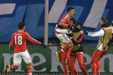 Gaitán marcó de cabeza en el minuto 85 para el empate parcial en Rusia.