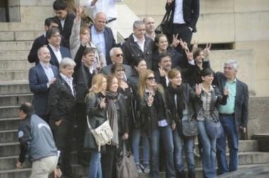 El ex ministro de Economía llegó a Tribunales acompañado por varios dirigentes.