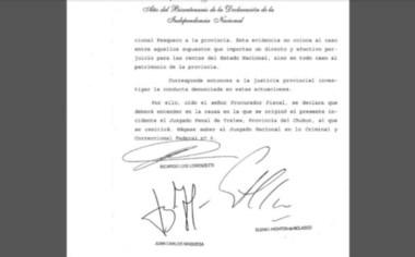 La Corte Suprema dejó la causa en la Justicia de Chubut.