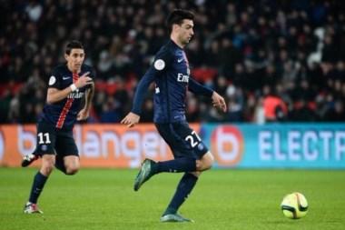 Di María también se anotó en la goleada del PSG ante Caen, marcando el cuarto gol del equipo.