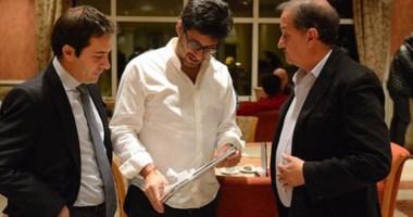 El intendente Linares y su viceintendente recibieron al ministro Garavano en su visita a Comodoro Rivadavia.