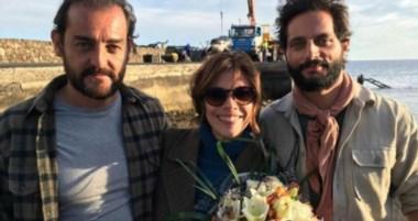 Roberto Bubas junto a Maribel Verdú y Joaquín Furriel. Los dos actores tienen candidatura a los Goya