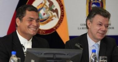 Todo sonrisas, a diferencia del duro enfrentamiento que mantuvo Correa con Álvaro Uribe.