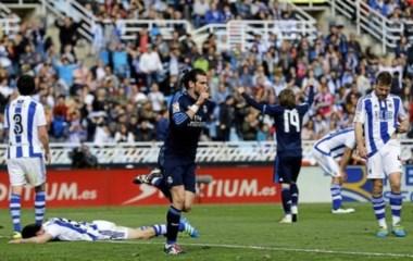 El galés Bale le dio la victoria al Real sin Ronaldo frente a Real Sociedad (atajó Rullli) y es puntero con 84 puntos.