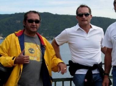 Martínez (izq.) y Gigli, el amigo al que acusan por el asesinato.