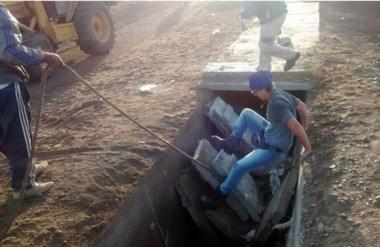 Desde la Coordinación de Servicios Públicos trabajaron para reemplazar las tapas de hormigón rotas.