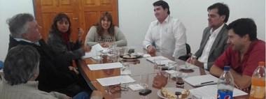 El intendente Burgoa y los concejales de 28 de Julio se reunieron con el ministro de Ambiente Agulleiro.