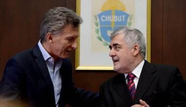 Das Neves con el presidente durante lo que fue su visita a la provincia.