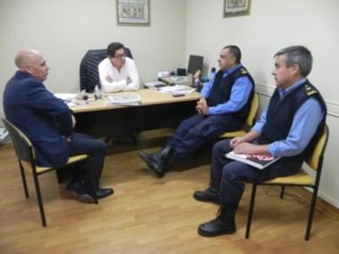 Autoridades policiales evaluaron junto al municipio las medidas a implementar
