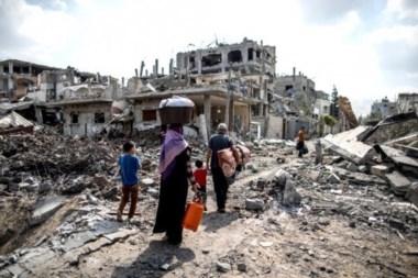 Los continuos bombazos sobre Gaza han rediseñado el paisaje urbano.