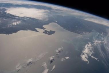 Así se ve Península Valdés desde la Estación Espacial Internacional