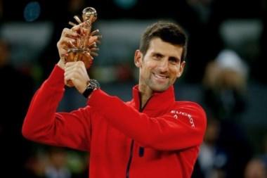 Novak Djokovic, minutos después de su título.