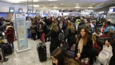 Segundo día con vuelos cancelados por el paro de controladores aéreos foto: LA NACION Ricardo Pristupluk
