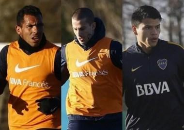 Guillermo está obsesionado con la Copa Libertadores. Hoy juntó a Tévez, Benedetto y Bou.