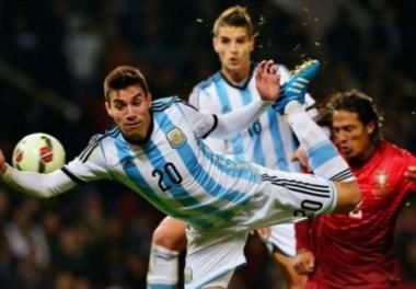 Nicolás Gaitán, el salieri de Messi, Hoy le tocó conferencia de prensa junto a Marcos Rojo.