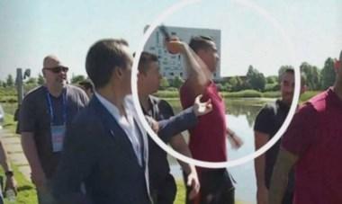 Cristiano se enojó con una pregunta  y le tiró al agua el micrófono a un periodista.