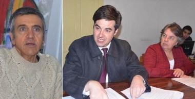 Protagonistas. Desde la izquierda, Romano y el bloque de Chubut Somos Todos, enojados con Cambiemos.