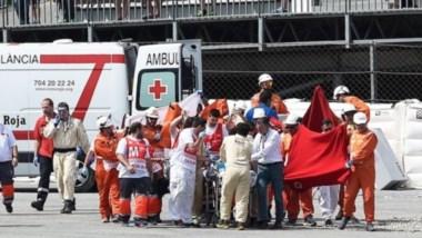 El  piloto mallorquín Luis Salom pierde la vida tras un gravísimo accidente.
