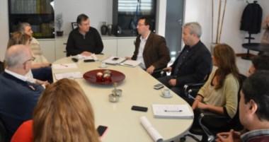 El intendente, junto a otros funcionarios, se reuniócon el jefe del Distrito Chubut de Vialidad Nacional.
